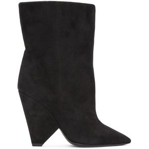 Saint Laurent Black Suede Niki Boots
